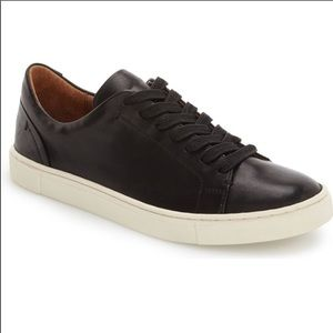 FRYE-IVY Black Leather NWOT Lace Up Sneakers-Sz 7